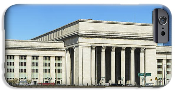 Schuylkill iPhone Cases - Facade Of A Building At A Railroad iPhone Case by Panoramic Images