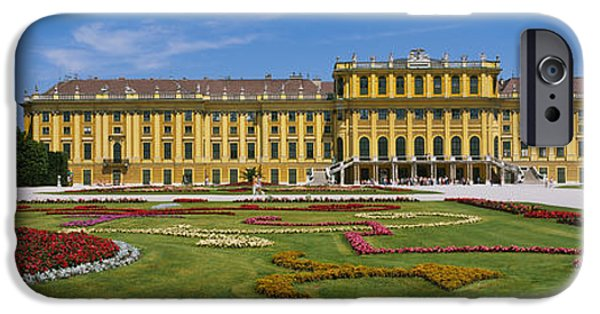 Facade iPhone Cases - Facade Of A Building, Schonbrunn iPhone Case by Panoramic Images