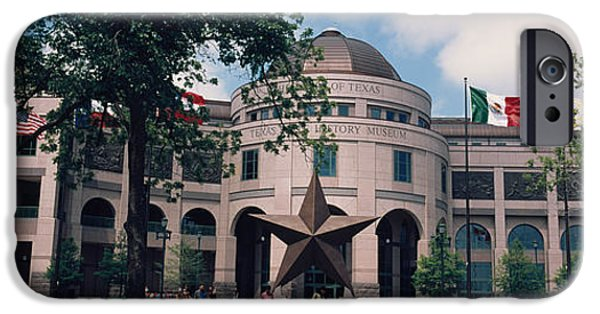 Facade iPhone Cases - Facade Of A Building, Texas State iPhone Case by Panoramic Images