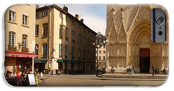 Facade iPhone Cases - Facade Of A Cathedral, St. Jean iPhone Case by Panoramic Images