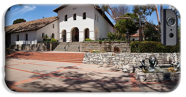 Facade iPhone Cases - Facade Of A Church, Mission San Luis iPhone Case by Panoramic Images