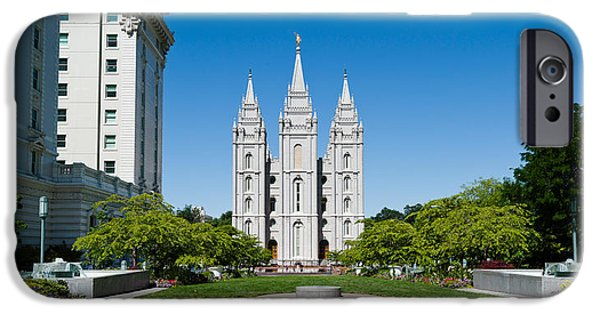 Facade iPhone Cases - Facade Of A Church, Mormon Temple iPhone Case by Panoramic Images