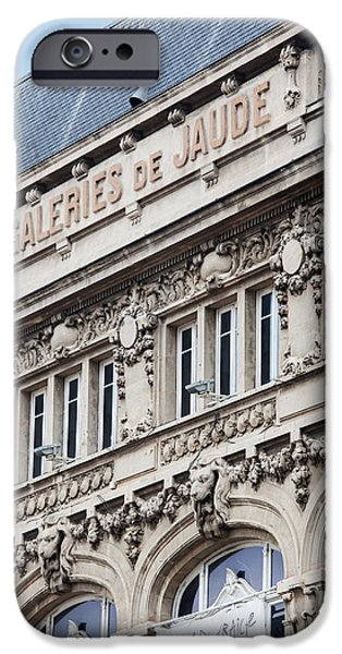 Facade iPhone Cases - Facade Of A Department Store, Place De iPhone Case by Panoramic Images