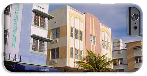 Facade iPhone Cases - Facade Of A Hotel, Art Deco Hotel iPhone Case by Panoramic Images