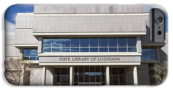 Baton Rouge iPhone Cases - Facade Of A Library, State Library iPhone Case by Panoramic Images