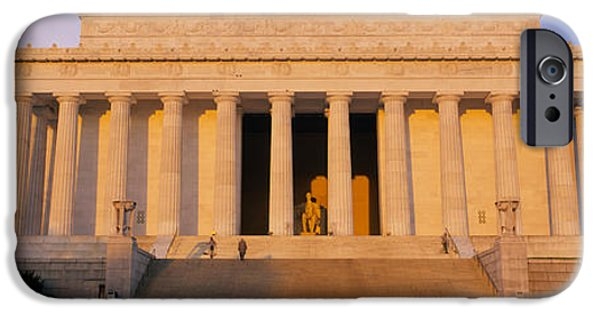 Lincoln iPhone Cases - Facade Of A Memorial Building, Lincoln iPhone Case by Panoramic Images