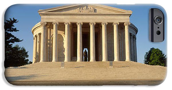 Facade iPhone Cases - Facade Of A Memorial, Jefferson iPhone Case by Panoramic Images