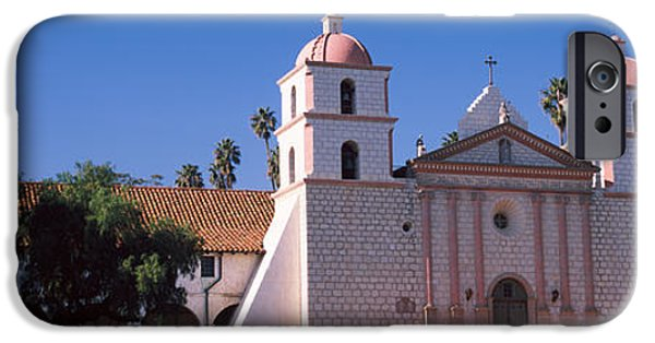 Santa iPhone Cases - Facade Of A Mission, Mission Santa iPhone Case by Panoramic Images