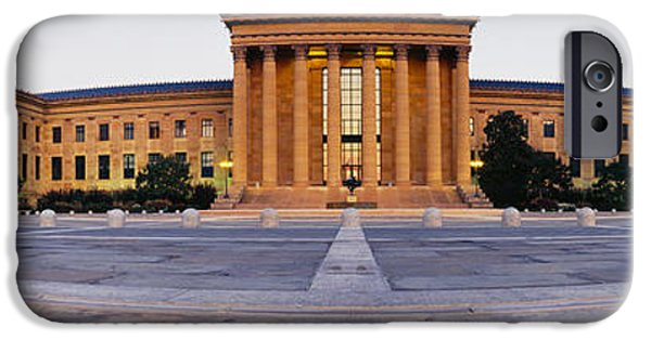 National Building Museum iPhone Cases - Facade Of A Museum, Philadelphia Museum iPhone Case by Panoramic Images