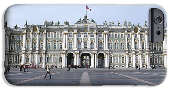Facade iPhone Cases - Facade Of A Museum, State Hermitage iPhone Case by Panoramic Images