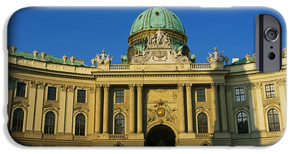 Facade iPhone Cases - Facade Of A Palace, Hofburg Palace iPhone Case by Panoramic Images