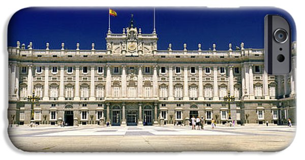Facade iPhone Cases - Facade Of A Palace, Madrid Royal iPhone Case by Panoramic Images