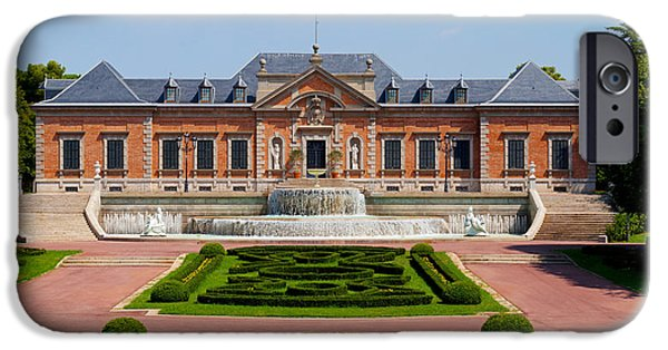 Facade iPhone Cases - Facade Of A Palace, Palauet Albeniz iPhone Case by Panoramic Images