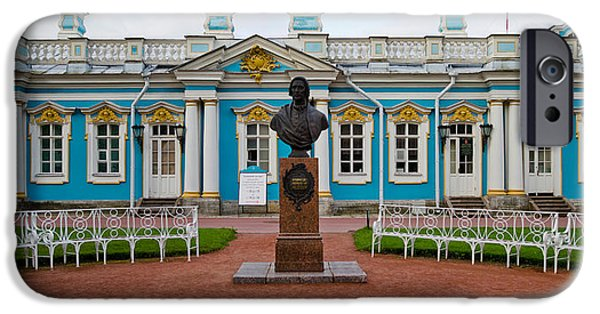 Facade iPhone Cases - Facade Of A Palace, Tsarskoe Selo iPhone Case by Panoramic Images