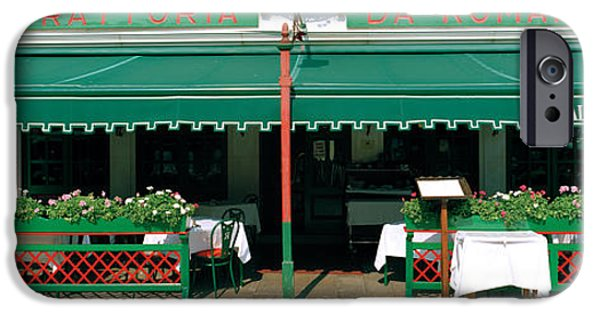 Shed iPhone Cases - Facade Of A Restaurant, Burano, Venice iPhone Case by Panoramic Images