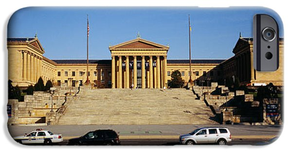 National Building Museum iPhone Cases - Facade Of An Art Museum, Philadelphia iPhone Case by Panoramic Images