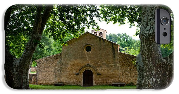 Facade iPhone Cases - Facade Of An Old Church, Vaugines iPhone Case by Panoramic Images