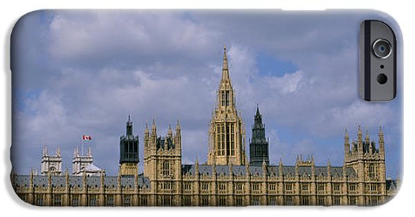 Architectural Feature iPhone Cases - Facade Of Big Ben And The Houses Of iPhone Case by Panoramic Images