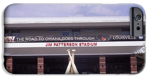 Baseball Stadiums iPhone Cases - Facade Of The Jim Patterson Stadium iPhone Case by Panoramic Images