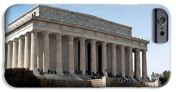 Lincoln iPhone Cases - Facade Of The Lincoln Memorial, The iPhone Case by Panoramic Images