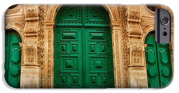 Facade iPhone Cases - Facade Of The Sao Francisco Church iPhone Case by Panoramic Images