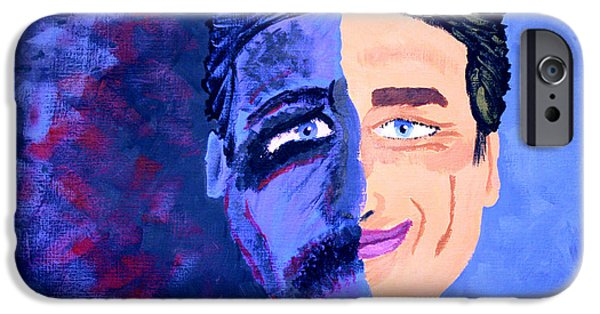 Bipolar Paintings iPhone Cases - Facade iPhone Case by Sascha  Rodgers