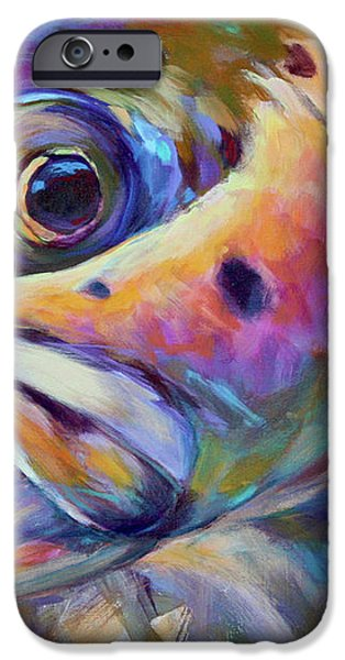 Face of A Rainbow- Rainbow Trout Portrait iPhone Case by Mike Savlen