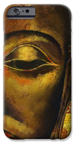 Face of Buddha  iPhone Case by Corporate Art Task Force