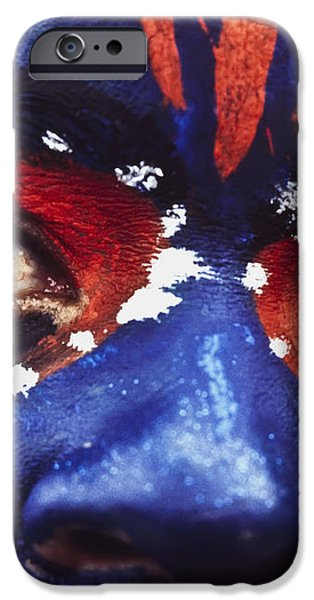 Face Of Carnival iPhone Case by Ian Cumming