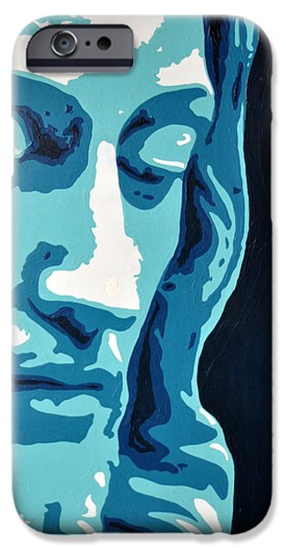 Art By God iPhone Cases - Face Of Greatness  iPhone Case by Ivan Guaderrama