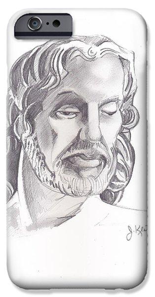 Face of Jesus iPhone Case by John Keaton