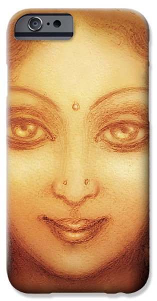 Face of the Goddess/ Durga Face iPhone Case by Ananda Vdovic