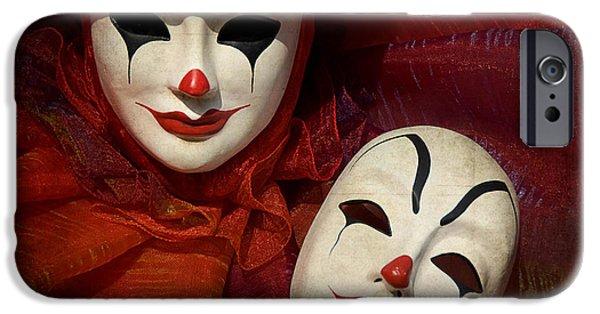 Portrait Of Evil iPhone Cases - Face off iPhone Case by Zina Zinchik