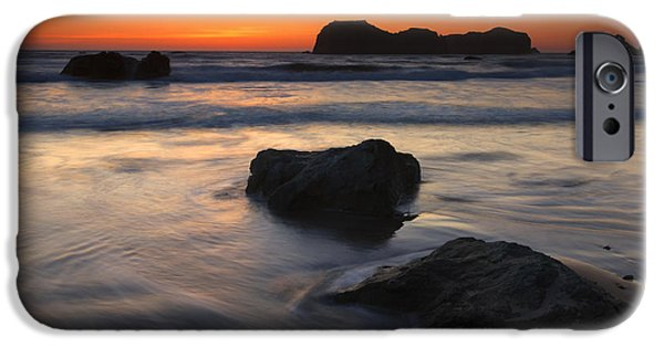 Face Photographs iPhone Cases - Face Rock Sunset iPhone Case by Mike Dawson