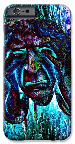 Inner Self Photographs iPhone Cases - Face Sculpture Of A Town Crier iPhone Case by Annie Zeno