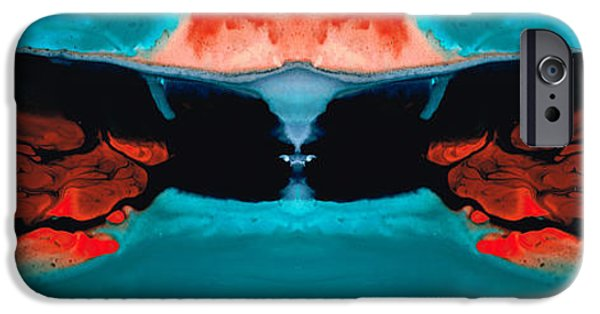 Power iPhone Cases - Face To Face - Abstract Art By Sharon Cummings iPhone Case by Sharon Cummings