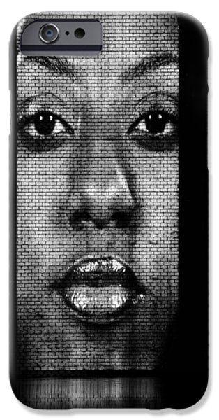 Glass Wall iPhone Cases - Face to Face - Crown Fountain Chicago iPhone Case by Christine Till