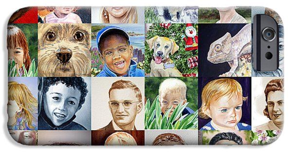 Dog Iphone Case iPhone Cases - Facebook Of Faces iPhone Case by Irina Sztukowski