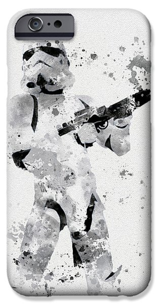 Boxes iPhone Cases - Faceless Enforcer iPhone Case by Rebecca Jenkins