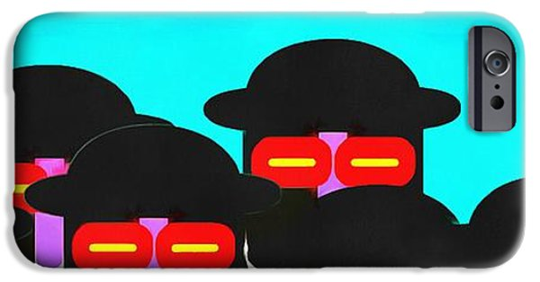 Abstract Digital iPhone Cases - Faces in a Crowd iPhone Case by Edward Fielding