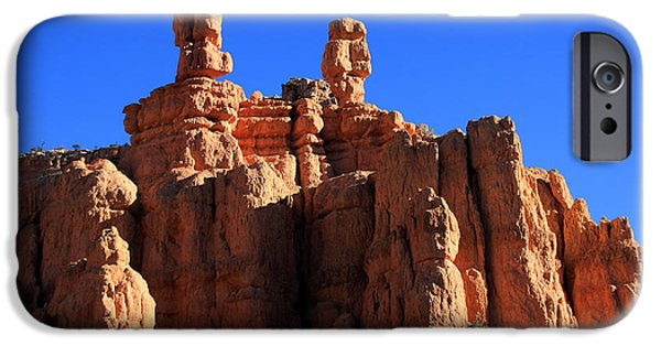 Canyon Country iPhone Cases - Faces In The Red Rock - New Mexico iPhone Case by Aidan Moran