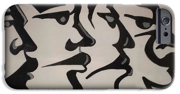 James Johnson iPhone Cases - Faces iPhone Case by James Johnson