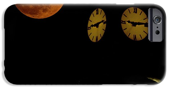Super Moon iPhone Cases - Faces iPhone Case by Lisa Holmgreen