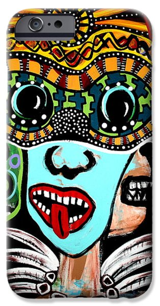 Hindu Goddess iPhone Cases - Faces of Kali Original iPhone Case by Jamie Lopez