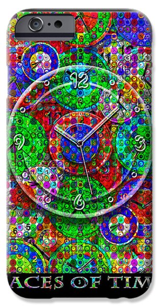 Original Art Mixed Media iPhone Cases - Faces Of Time 3 iPhone Case by Mike McGlothlen