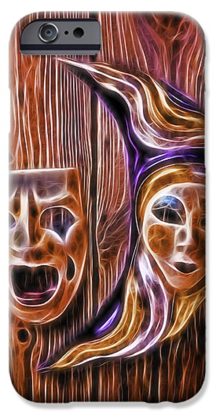 Masks iPhone Cases - Faces On The Wall iPhone Case by Garry Gay