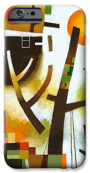 Abstract Expressionist iPhone Cases - Facing the Music iPhone Case by Douglas Simonson