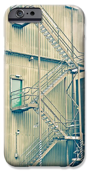 Escape iPhone Cases - Factory steps iPhone Case by Tom Gowanlock