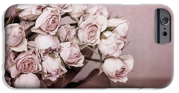 Flower Still Life iPhone Cases - Fade Away iPhone Case by Priska Wettstein
