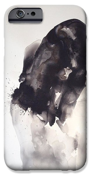 Self Portrait Paintings iPhone Cases - Fade into you iPhone Case by Kristina Broza